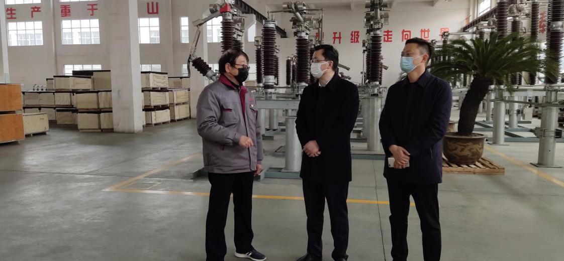 靖江市委组织部申部长一行莅临靖互股份调研指导